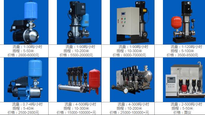 变频泵价格参考表