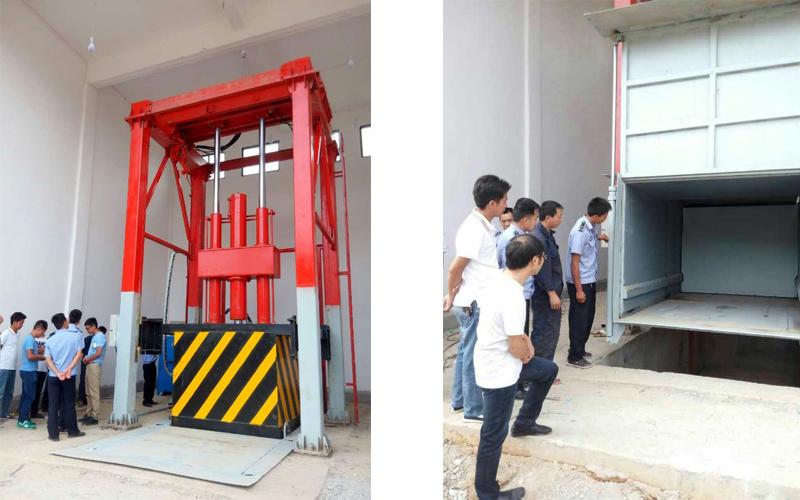 贵州长顺县环保局垂直式垃圾压缩机项目