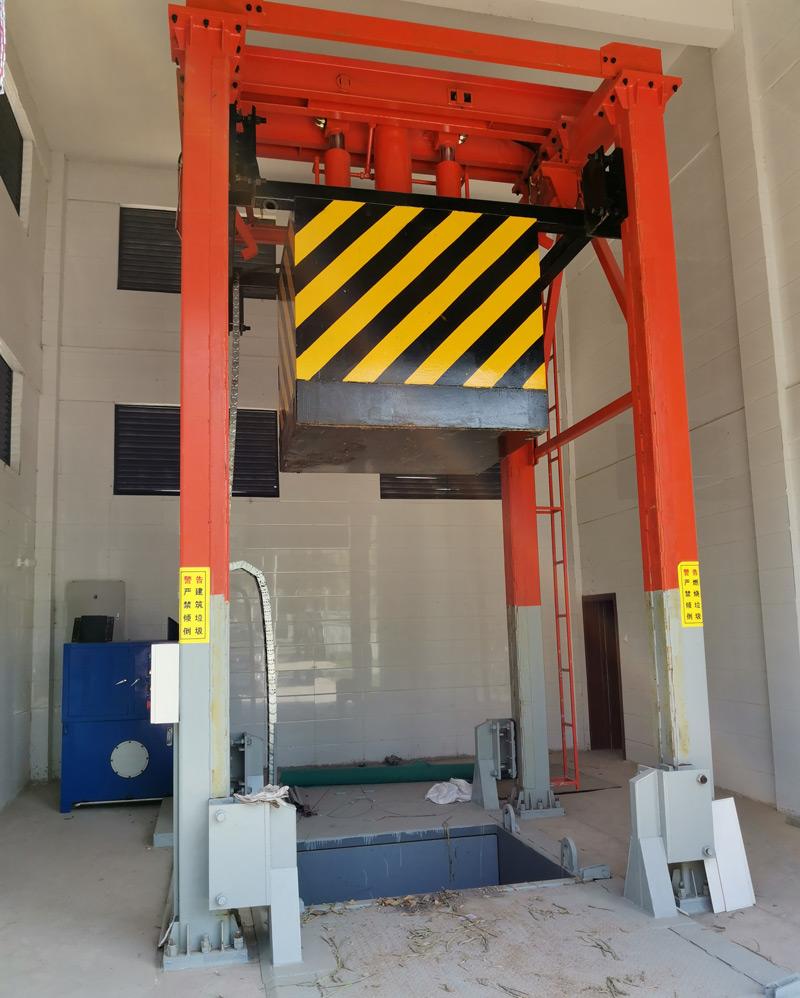 周口扶沟县垂直式垃圾压缩站项目