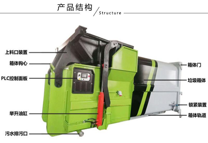 移动式连体垃圾压缩箱