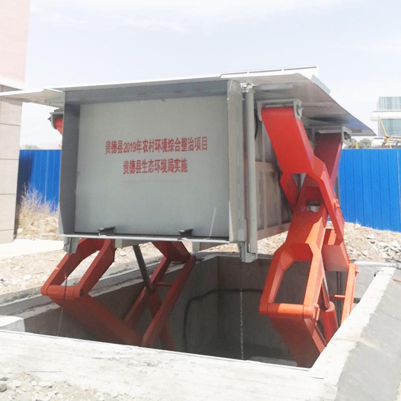 地埋水平压缩式垃圾中转站