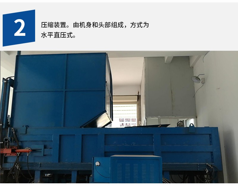 水平直压式垃圾压缩机