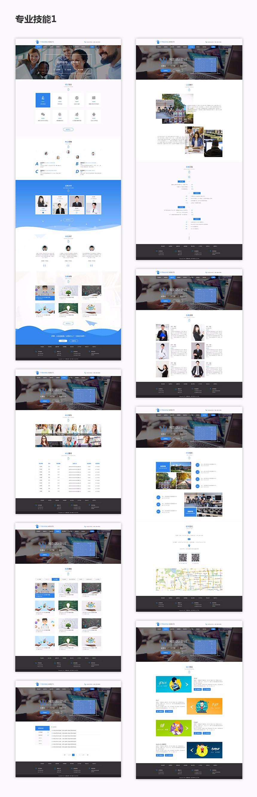 重庆专业技能培训公司培训行业网站建设.jpg