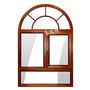 木包铝内开内倒圆弧窗