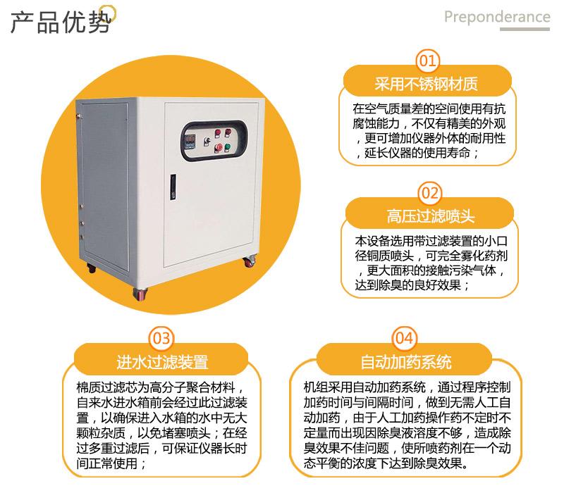 压缩式垃圾转运站喷淋降尘系统-垃圾环卫站喷雾机公司