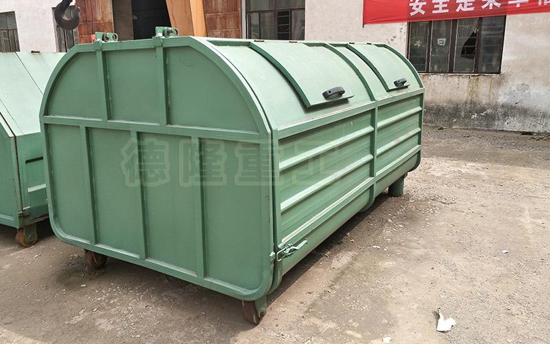 勾臂车垃圾箱 3方移动式垃圾箱 学校园区拉臂式垃圾箱