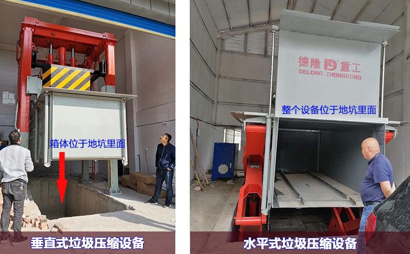 垂直式地埋垃圾压缩机和地埋式水平垃圾压缩机