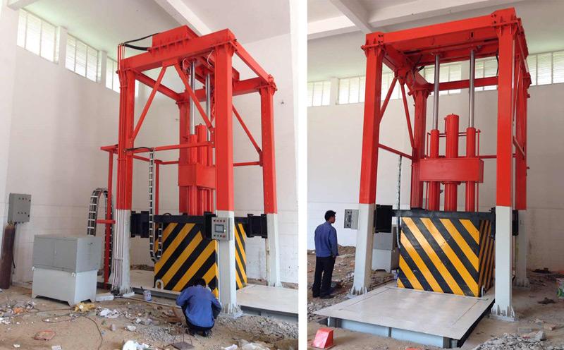 垂直式三缸四柱垃圾压缩中转站设备
