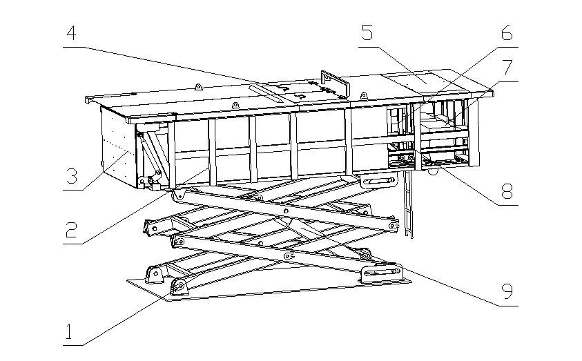 升降式垃圾中转站产品结构