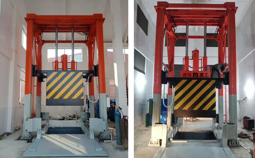 垂直式垃圾压缩设备为什么也可叫做三缸四柱垃圾压缩设备