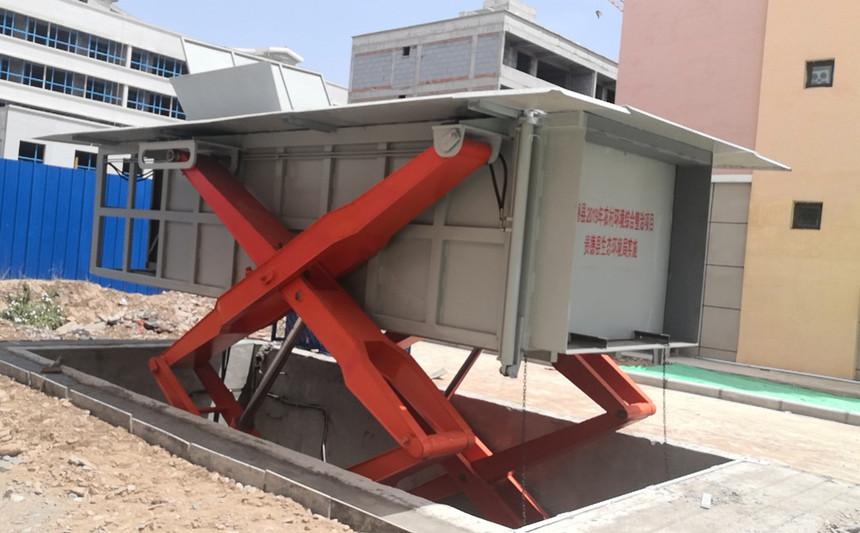 农村新型水平式垃圾转运站