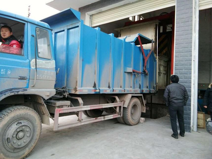 三缸四柱式垃圾站压缩设备工作流程