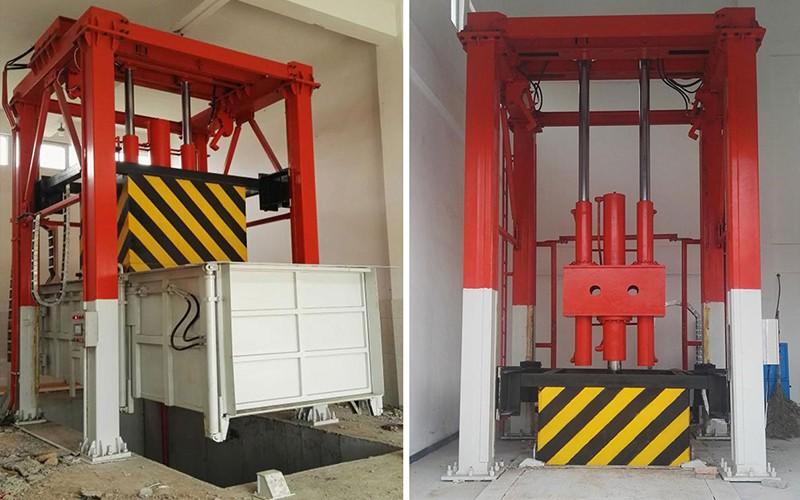 三缸四柱式垃圾站压缩设备