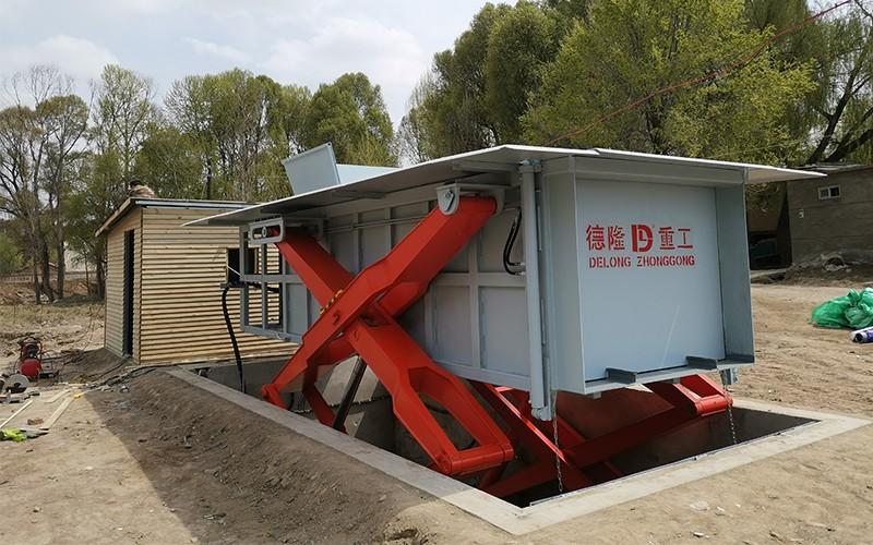 地埋式垃圾压缩站 农村垃圾转运站安装现场