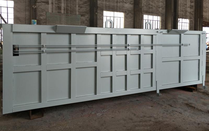 水平式垃圾压缩箱