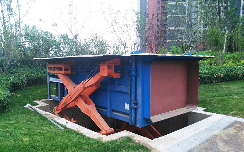 小区使用地埋式垃圾压缩站