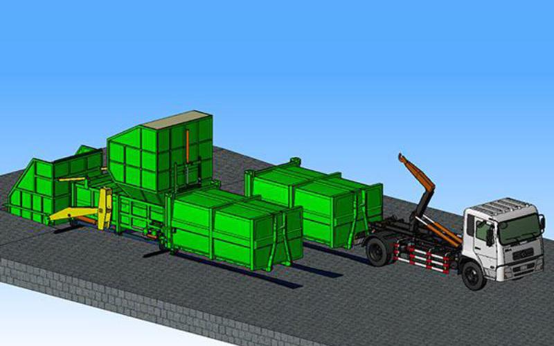 分体式垃圾压缩站分体式集装箱产品概述