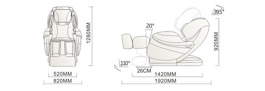 A80按摩椅规格参数介绍