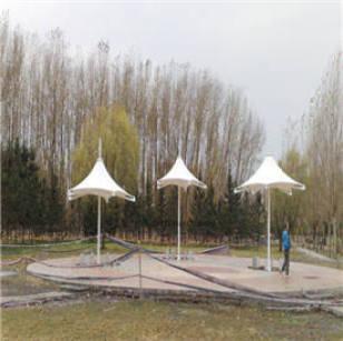 膜结构遮阳伞案例