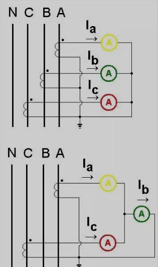 下图是两个电流互感器的接线图。