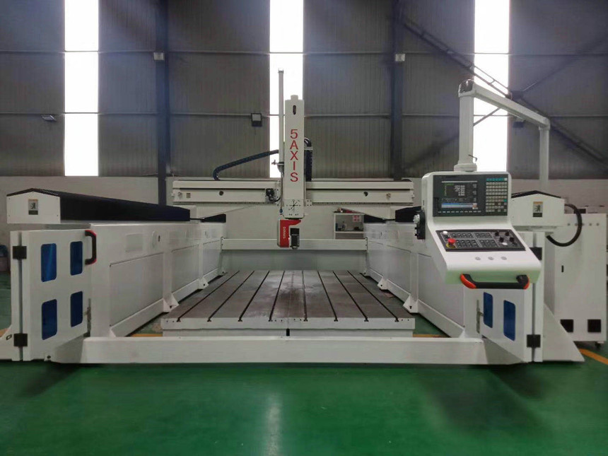 5 axis CNC machine made in China, multi-function: production cutting, drilling, trimming, prototype and fixture processing