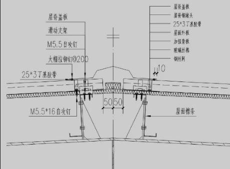 屋脊节点设计