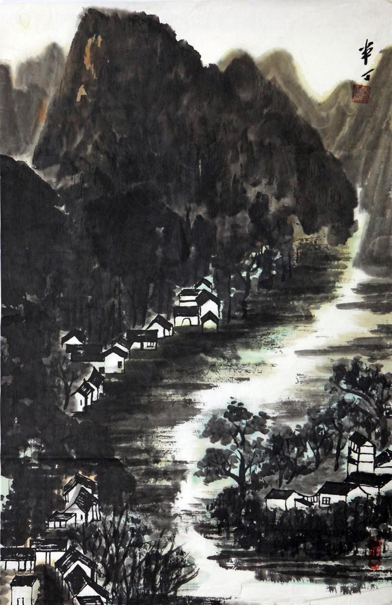 薛颖田绘画作品:山水(三)