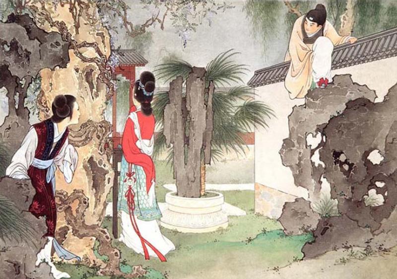图2《西厢记·赴约》,王叔晖绘