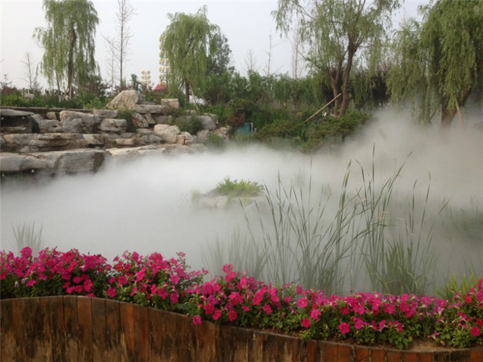 景观造雾在园林景观设计中的选择与注意事项