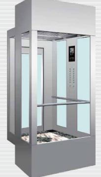 阿爾法不銹鋼方形觀光電梯
