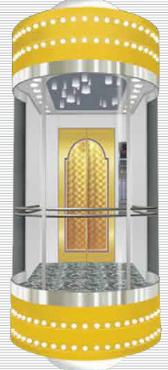 阿尔法不锈钢圆形观光电梯