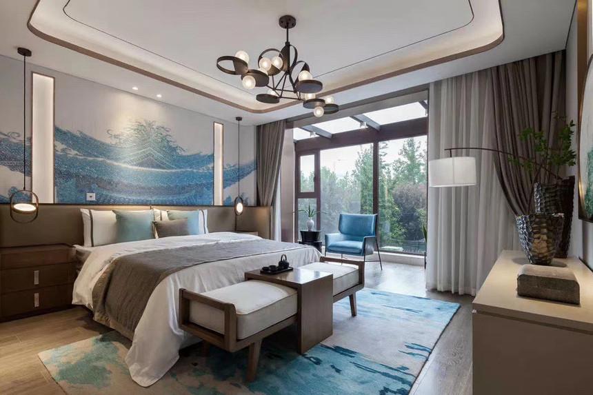 杭州上城区210㎡中式风格装修效果图——卧室