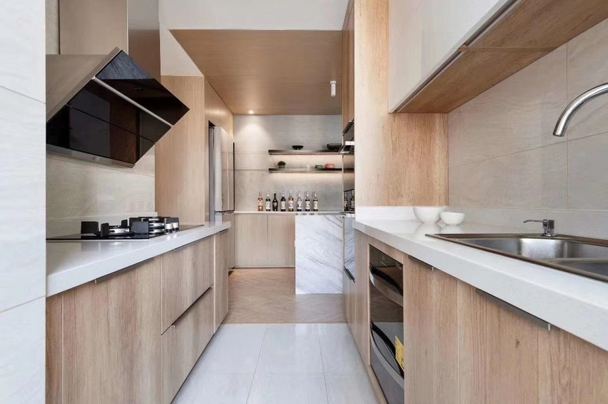 杭州桐庐县185㎡现代风格装修效果图——厨房