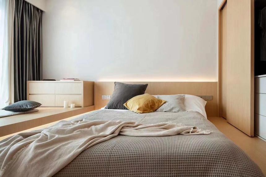 杭州桐庐县185㎡现代风格装修效果图——卧室