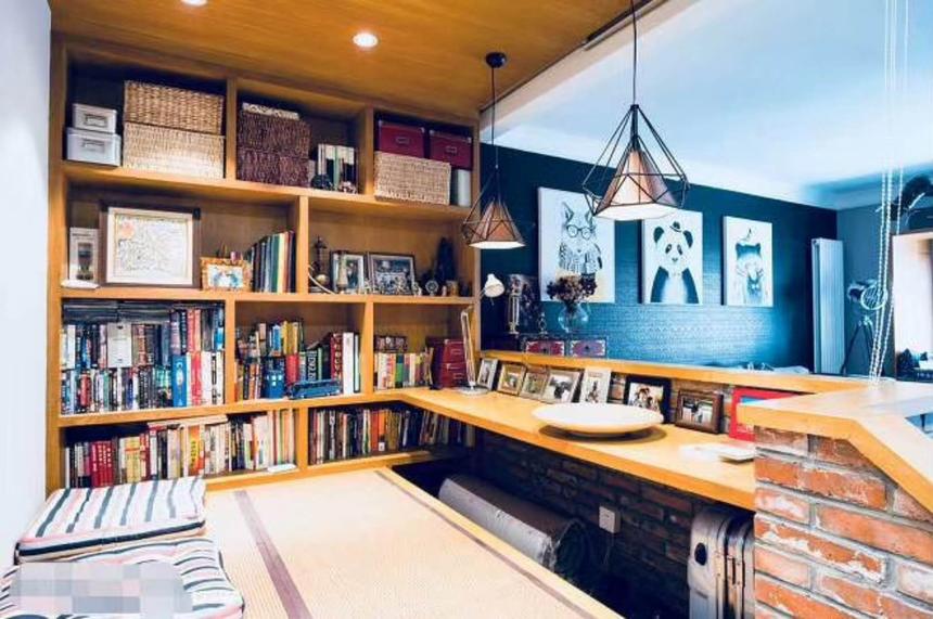 杭州下城区165㎡现代工业风装修效果图——书房