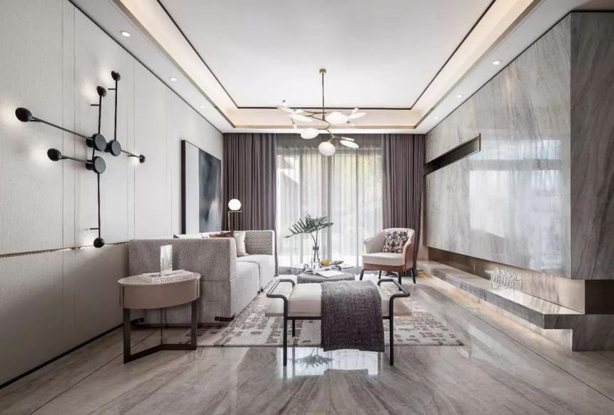 杭州江干区210㎡轻奢风装修效果图