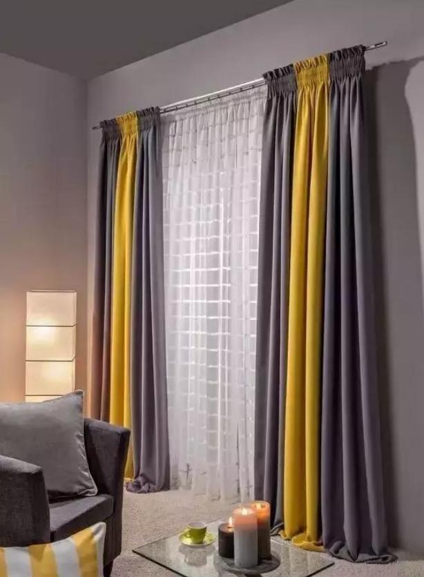 安装双层窗帘
