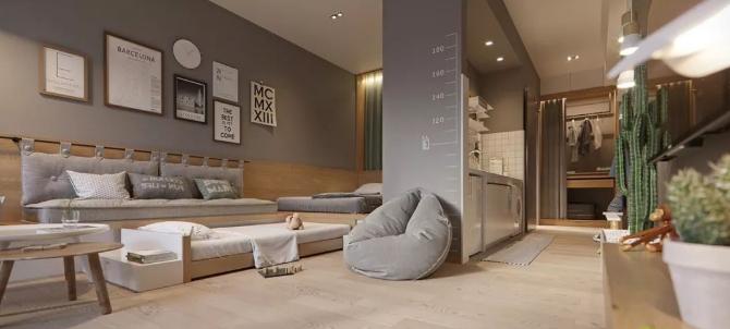 杭州家装8人座沙发放30㎡开间案例分享