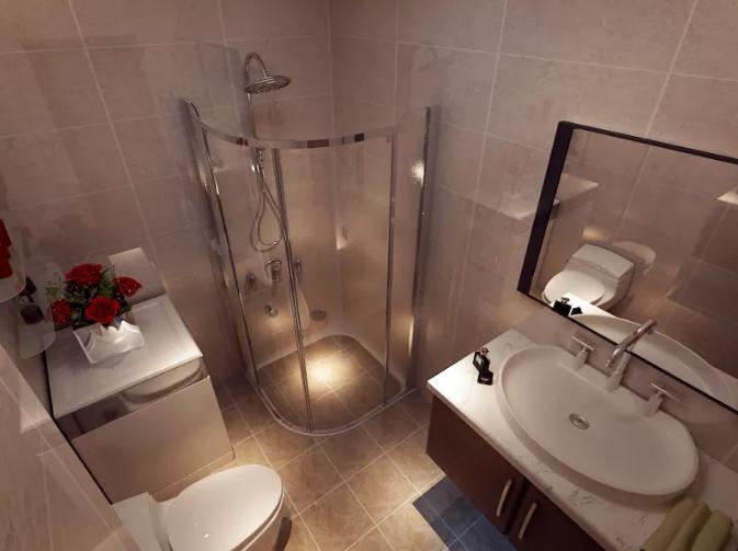 本套90平米二居室房子卫生间