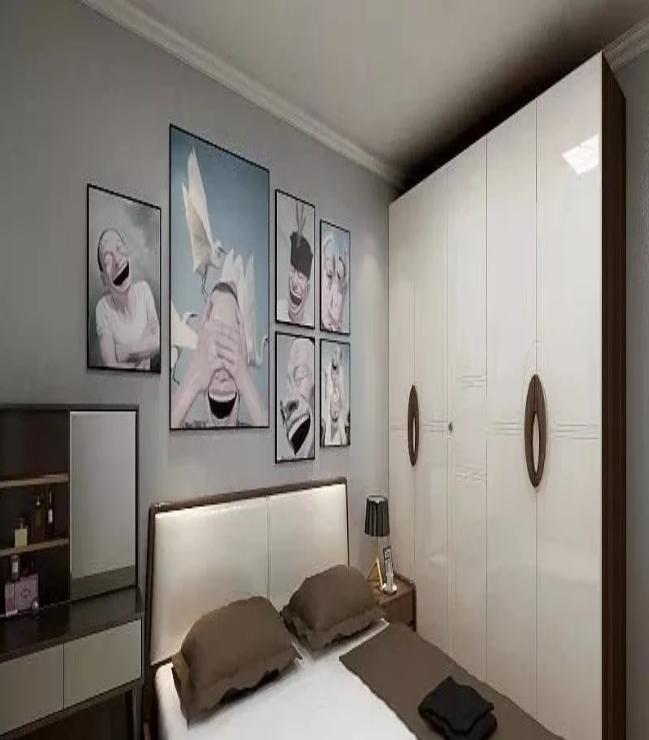 杭州江干区94㎡现代风--卧室效果图
