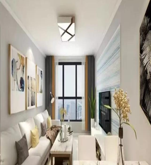 杭州江干区94㎡现代风--客厅效果图