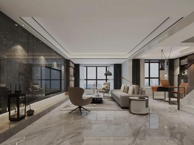 杭州装修公司设计图_客厅和书房