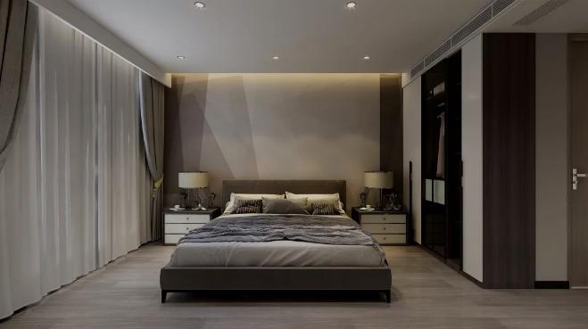 【杭州装修公司案例】150平米现代轻奢装修风格_卧室