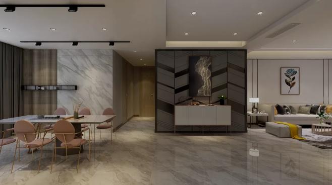 【杭州装修公司案例】150平米现代轻奢装修风格_餐厅