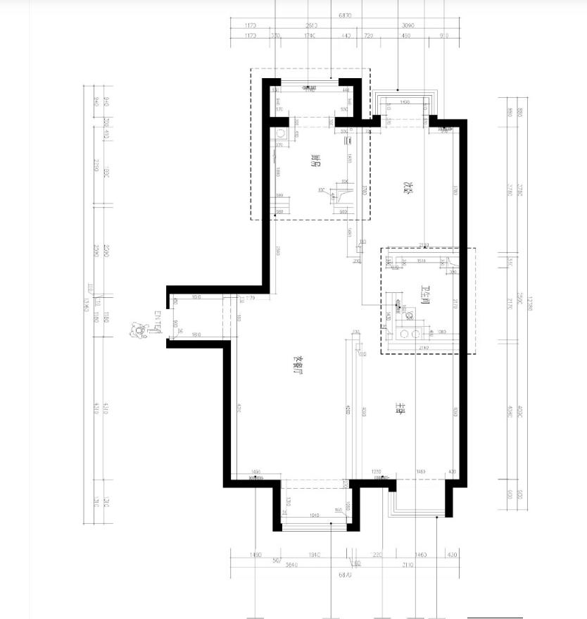 杭州装修公司案例200平美式复式室私宅设计_结构图