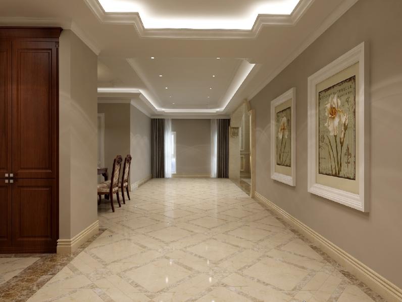 杭州装修公司案例200平美式复式室私宅设计_走廊