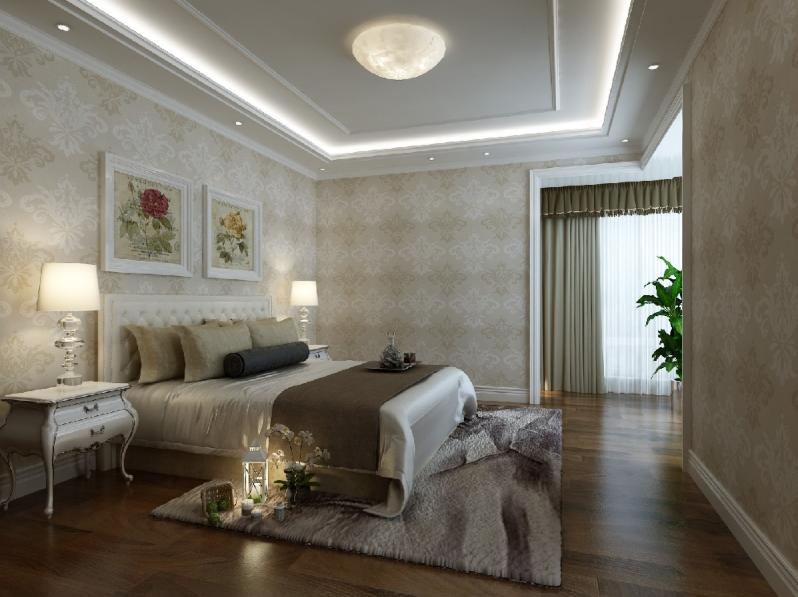 杭州装修公司案例200平美式复式室私宅设计_卧室