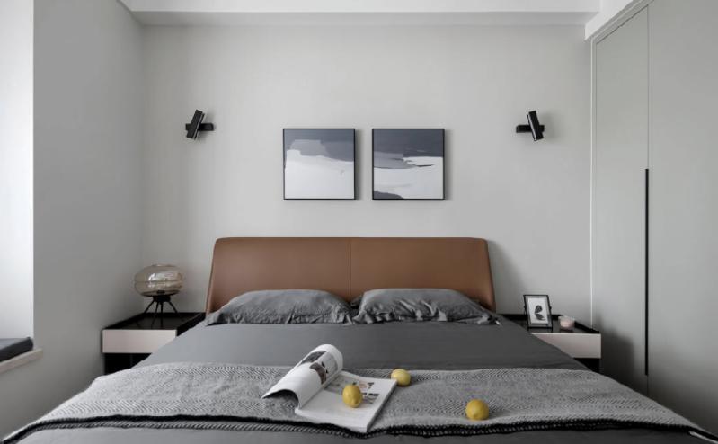 杭州装修公司案例效果图,旧房改造 灰白暮色_卧室