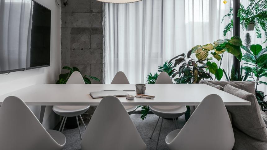 杭州装修公司50㎡工作室会议区装修效果图