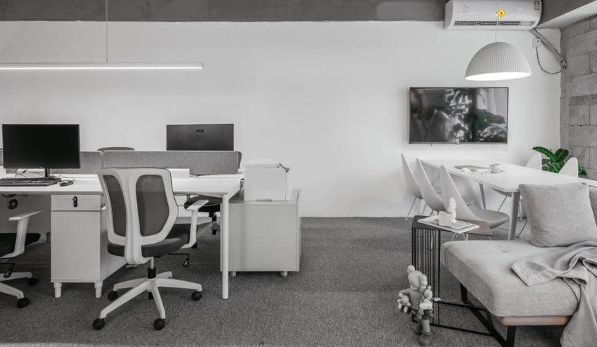 杭州装修公司50㎡工作室办公区装修效果图